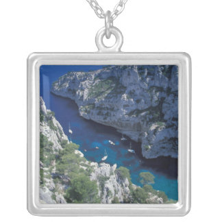 EU, France, Provence, French Riviera Coast, 2 Silver Plated Necklace