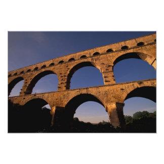 EU, France, Provence, Gard, Pont du Gard. 4 Photo Print