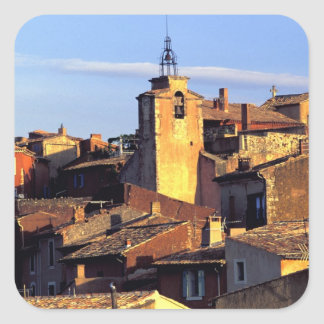 EU, France, Provence, Vaucluse, Roussillon. 3 Square Sticker