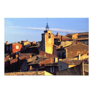 EU, France, Provence, Vaucluse, Roussillon. Photo Print