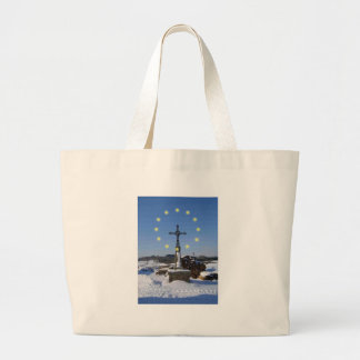 EU French Snowscape Large Tote Bag