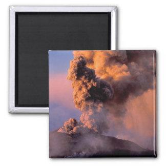 EU, Italy, Sicily, Mt. Etna summit vent Square Magnet
