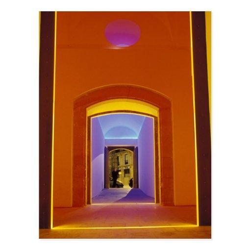 EU, Spain, Barcelona. Lit doorway near Picasso Postcard