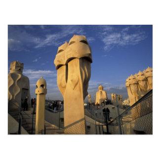 EU, Spain, Catalonia, Barcelona. Antonio Gaudi's Postcard