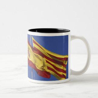 EU, Spain, Catalonia, Palau de la Generalitat. Two-Tone Coffee Mug