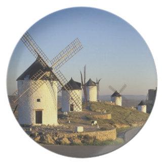 EU, Spain, La Mancha, Consuegra. Windmills and Dinner Plates