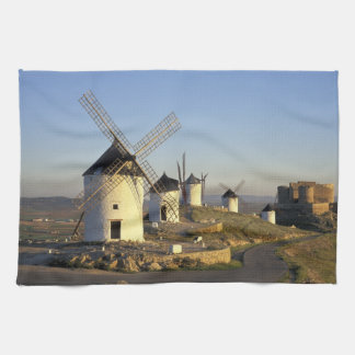 EU, Spain, La Mancha, Consuegra. Windmills and Hand Towels