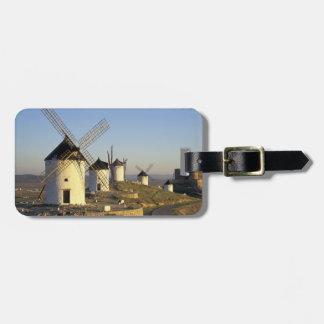 EU, Spain, La Mancha, Consuegra. Windmills and Luggage Tag