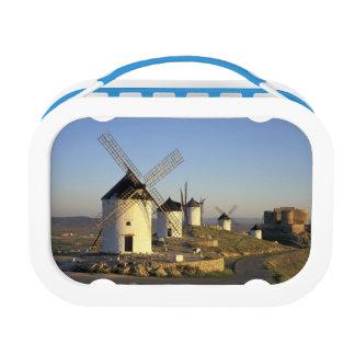 EU, Spain, La Mancha, Consuegra. Windmills and Lunch Boxes