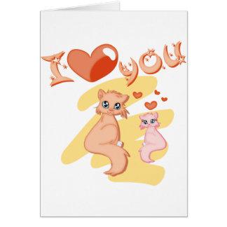 Eu te amo gatos - I love you cats Cartões