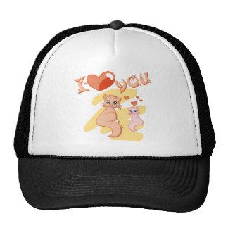 Eu te amo gatos - I love you cats Bonés
