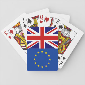 EU UK referendum brexit vote playing cards