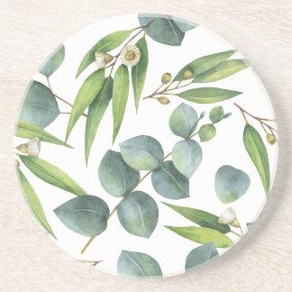 Eucalyptus Foliage Pattern Coaster