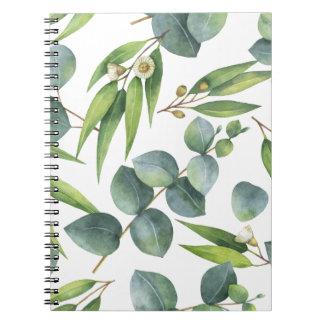 Eucalyptus Foliage Pattern Spiral Notebook