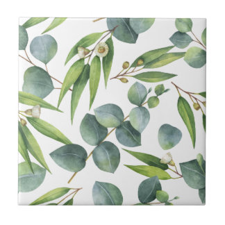 Eucalyptus Foliage Pattern Tile