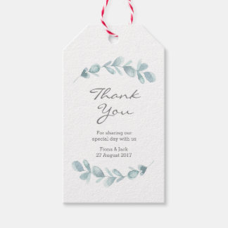 Eucalyptus garden watercolor Wedding Favour tags
