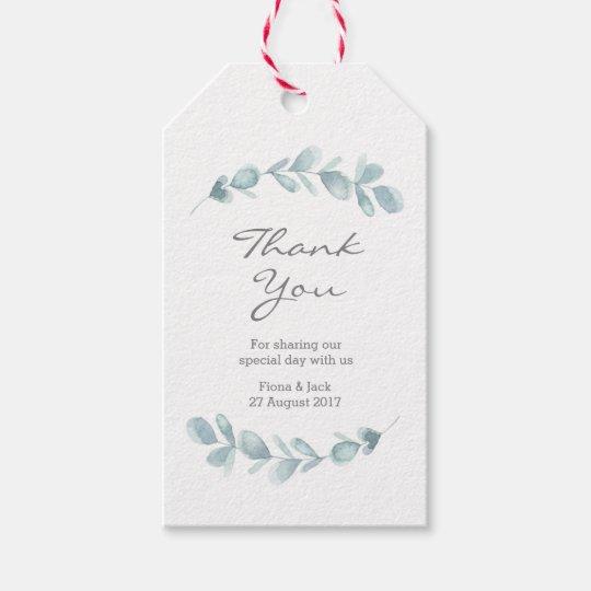 Eucalyptus garden watercolor Wedding Favour tags