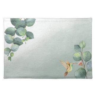 Eucalyptus Hummingbird Watercolor Placemats