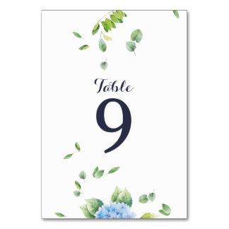 Eucalyptus Hydrangea Garden Wedding Table Card