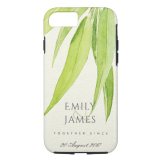 EUCALYPTUS LEAF FOLIAGE SAVE THE DATE WEDDING GIFT iPhone 8/7 CASE