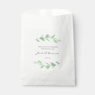 Eucalyptus Personalized Wedding Favor Paper Bags