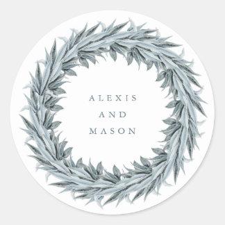 Eucalyptus Simplicity | Wedding Classic Round Sticker