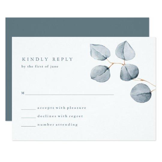 Eucalyptus Simplicity | Wedding Response Card