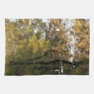Eucalyptus trees Thousand Oaks Park, San Jose Tea Towel