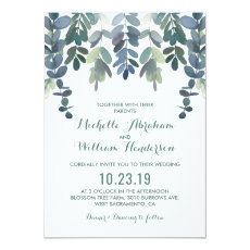 Eucalyptus Watercolor Wedding Invite | Greenery