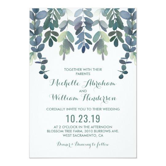 Eucalyptus Watercolor Wedding Invite | Greenery