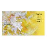Eucalyptus White on Yellow Business Cards