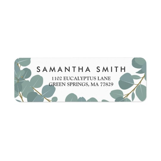 Eucalyptus Wreath Greenery Wedding Return Label