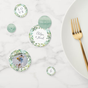 Eucalyptus Wreath Personalised Wedding Confetti