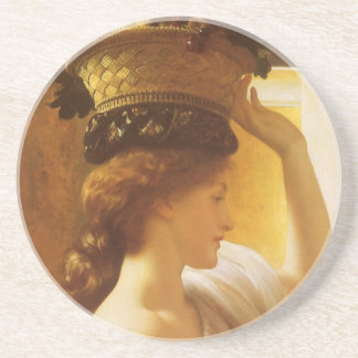 Eucharis - Girl With a Basket of Fruit by Leighton Sandstone Coaster