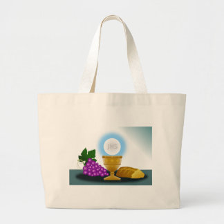 eucharist large tote bag