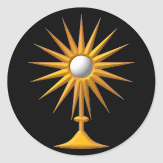 Eucharistic Monstrance Round Sticker