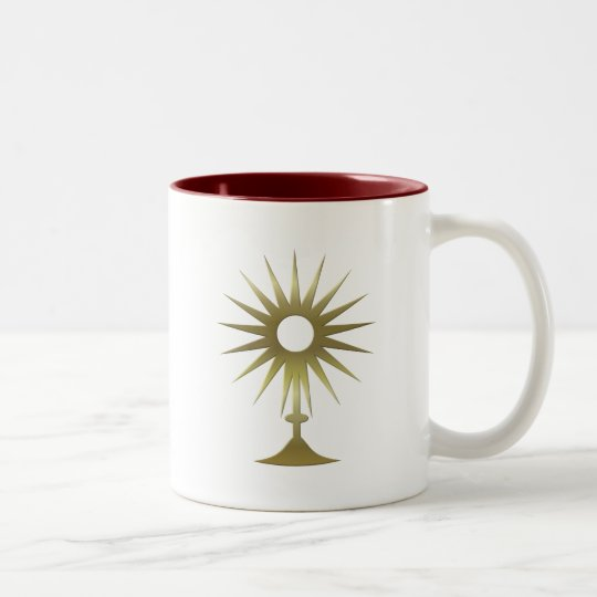 Eucharistic Monstrance Two-Tone Coffee Mug