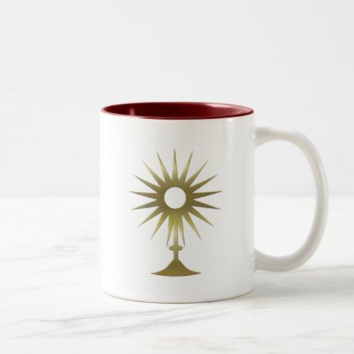 Eucharistic Monstrance Two-Tone Mug