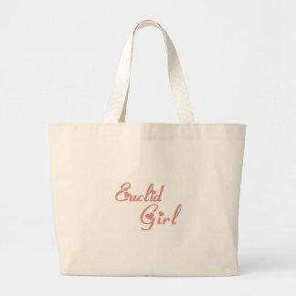 Euclid Girl tee shirts Canvas Bags