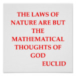 EUCLID quote Poster