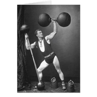Eugen Sandow Strongman Card
