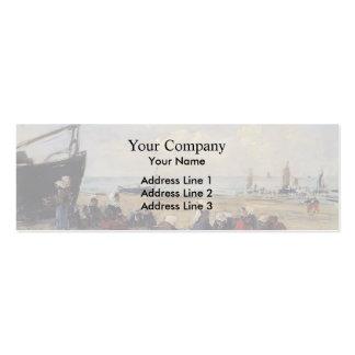 Eugene Boudin- Berck, Fisherwomen on the Beach Pack Of Skinny Business Cards