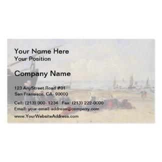 Eugene Boudin- Berck, Fisherwomen on the Beach Pack Of Standard Business Cards