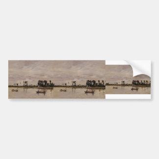 Eugene Boudin-Caudebec-en-Caux, Banks of the Seine Bumper Sticker