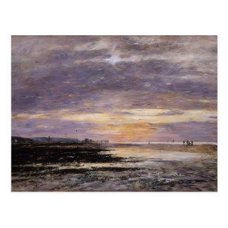 Eugene Boudin- Deauville, Sunset on the Beach Postcard