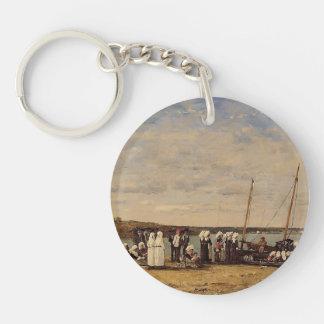 Eugene Boudin- Fishermen of Kerhor , Plougastel Acrylic Key Chains