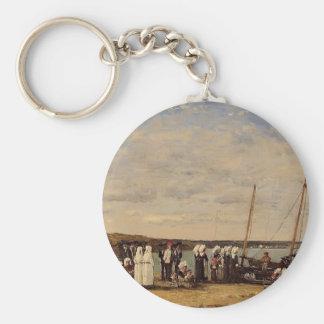 Eugene Boudin- Fishermen of Kerhor , Plougastel Key Chain