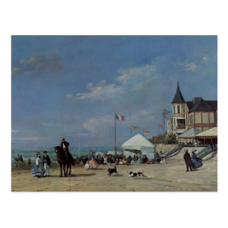 Eugene Boudin- The Beach at Trouville Postcard