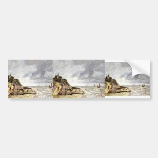 Eugene Boudin- The Seine at Caudebec-en-Caux Bumper Stickers