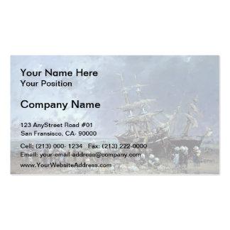 Eugene Boudin- Unloading Newfoundland Fishing Boat Business Card Templates